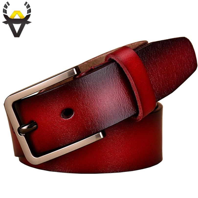 Nouvelle 2017 De Mode de Vache Véritable ceintures en cuir pour femmes De Luxe ceinture femme Designer Haute qualité Broches sangle à boucle Marque ceinture