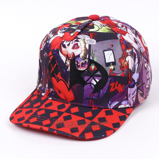 Cool Fashion Men Women Snapback Caps Suicide Squad Harley Quinn Print  Adjustable B-Boy Hip Hop Hat 7d194b5f040