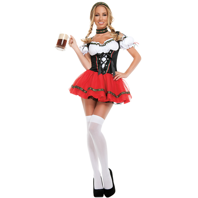 adult women sexy frisky beer girl oktoberfest maid halloween costumeschina mainland - Halloween Costumes Prices