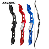20 36Lbs American Hunting Bow Recurve Bow in Black/Red/Blue Archery with Sight and Arrow Rest for Archery Hunting Shooting