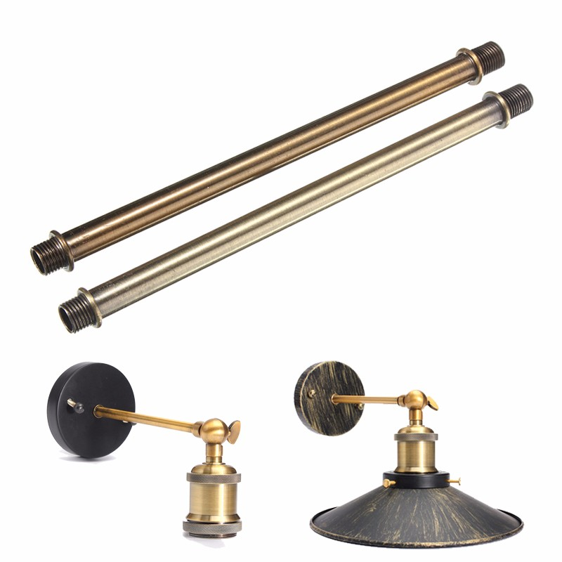Best Price 17cm Retro Vintage Lamp Light Holder Socket Droplight Extension Rod Zinc Alloy Gold Bronze/Green Bronze Lamp Bases