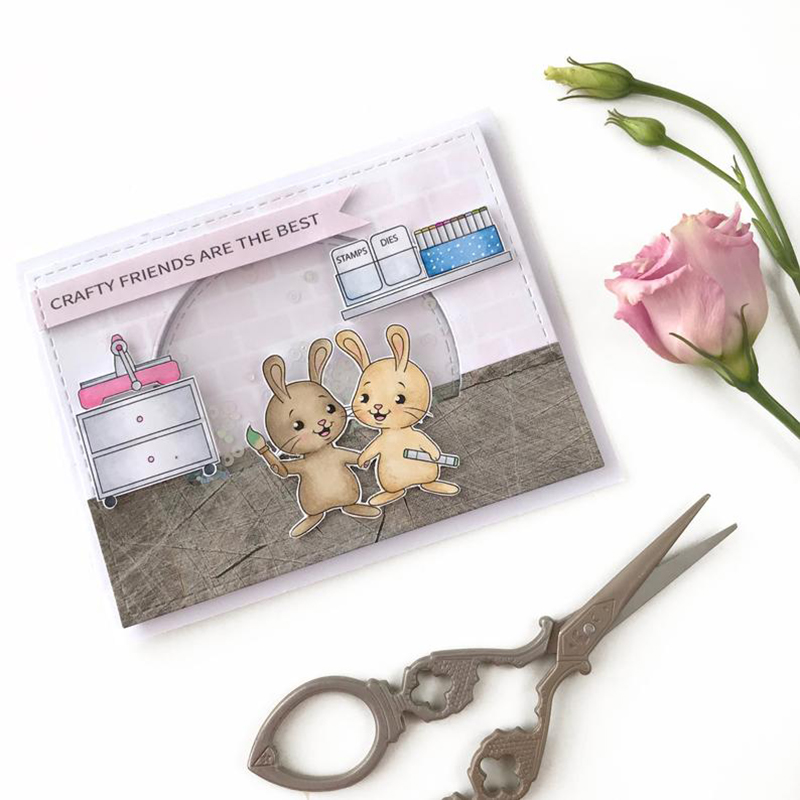 JC Rubber Stamps and Metal Cutting Dies Scrapbooking Craft Rabbit Furniture Die Cut Clear Stamps Stencil Card Making Decor Album in Cutting Dies from Home Garden