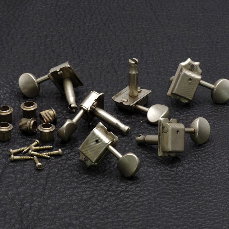 Relic Vintage Style Tuning Keys Tuners for strat tele guitar 6 in line Aged AN electric