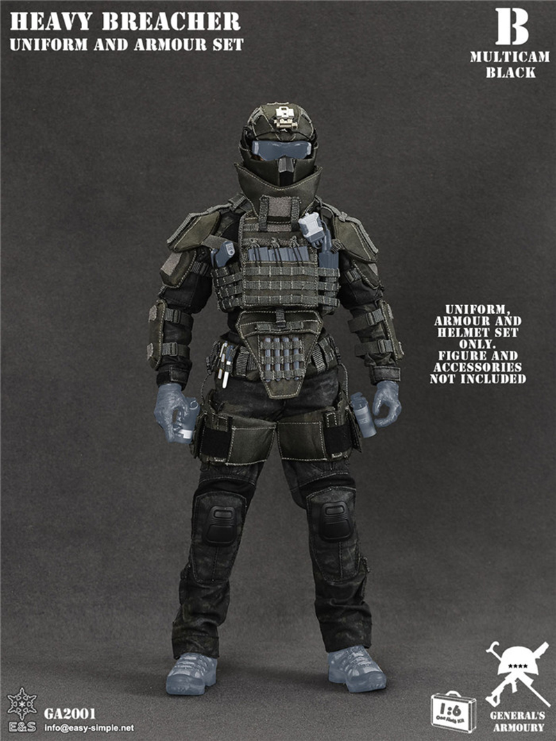 clothing set collections 1/6 Scale military Solider Figure Heavy Breacher figure Clothes Set & Weapon Accessory set no Body 1