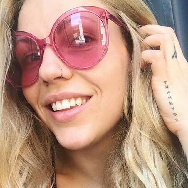 ab148bf9c3 2019 Color caramelo Retro gafas de sol mujer marca diseñador gafas de sol  para mujer gafas