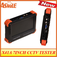 2017 hot sale x41A CCTV TESTER hot sale New 7 inch IP CCTV tester with VGA digital multimeter and PTZ control from asmile