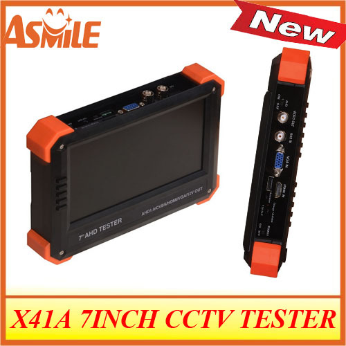 2017 hot sale x41A CCTV TESTER hot sale New 7 inch IP CCTV tester with VGA digital multimeter and PTZ control from asmile ...