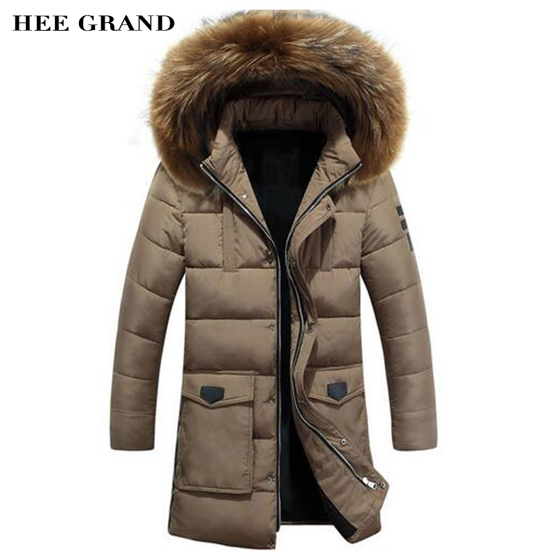 ФОТО HEE GRAND Men Long Stretch Parkas 2017 New Arrival High Quality Solid Color Coat Specially For Cold Winter 5 Colors MWM1453
