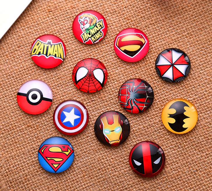 Apparel Sewing & Fabric Badges Hard-Working 1pcs Cartoon Super Heros Batman Spider Man Icon Acrylic Brooch Badges Decoration Pin Buttons Backpack Clothes Accessories As Effectively As A Fairy Does