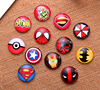 48pcs 12mm Anime Cool pattern Round Handmade Photo Glass Cabochons & Glass Dome Cover DIY Blank Cameo Cabochon Base Settings