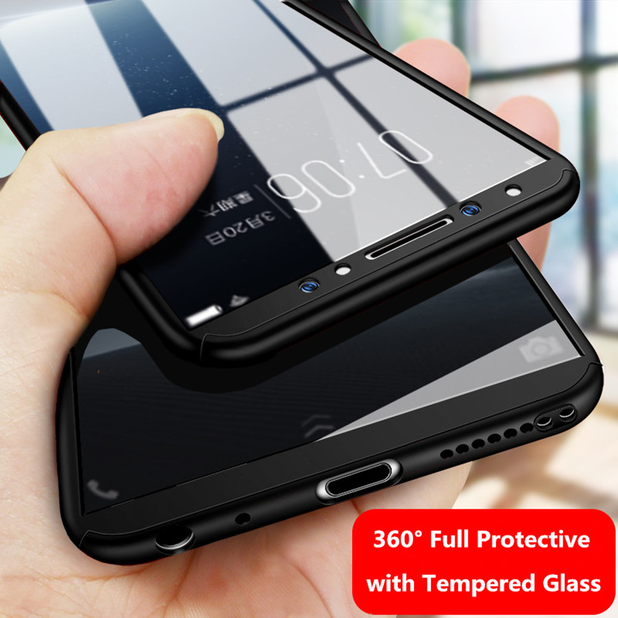 for VIVO V9 V7 Case Glass VIVO V3 MAX V5 Y51 Y53 Y55 Y66 Y67 Y69 Y75 Y79 Y85 360 Case Full Cover Screen Protector Tempered Glass 360 degrees
