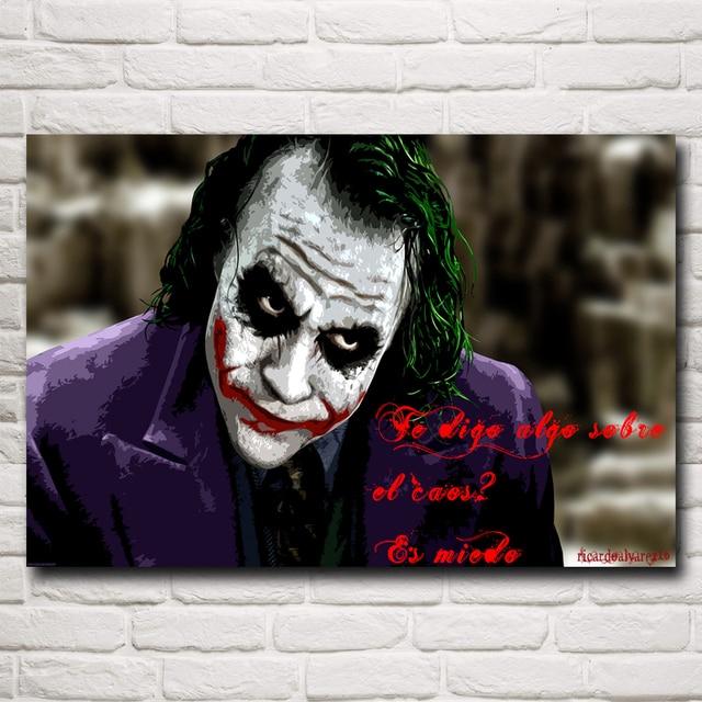 6adf2ec9f354a The Dark Knight Heath Ledger Film Joker Ev Dekor boyama Sanat İpek Poster  12x18 16X24 20x30