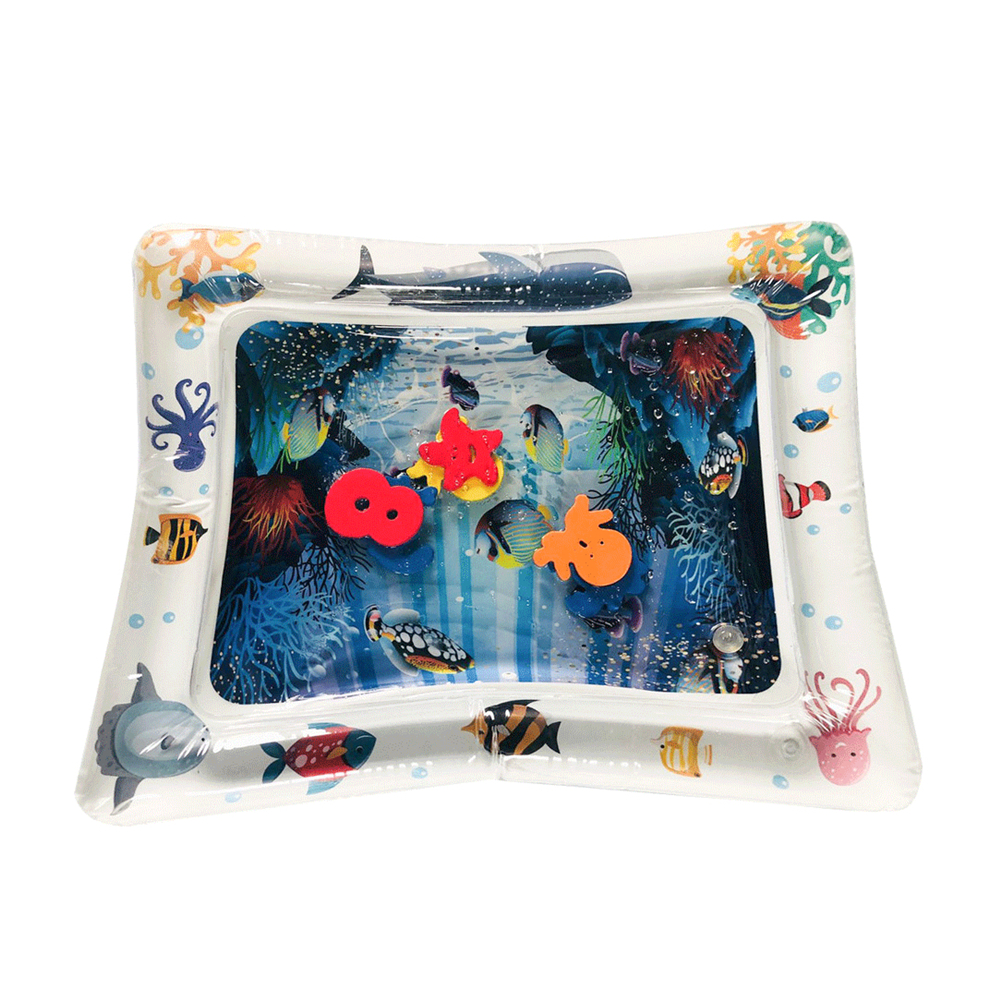 HTB1g8 8MIfpK1RjSZFOq6y6nFXaK Hot! 18 Designs Baby Kids Water Play Mat Inflatable Infant Tummy Time Playmat Toddler for Baby Fun Activity Play Center Dropship