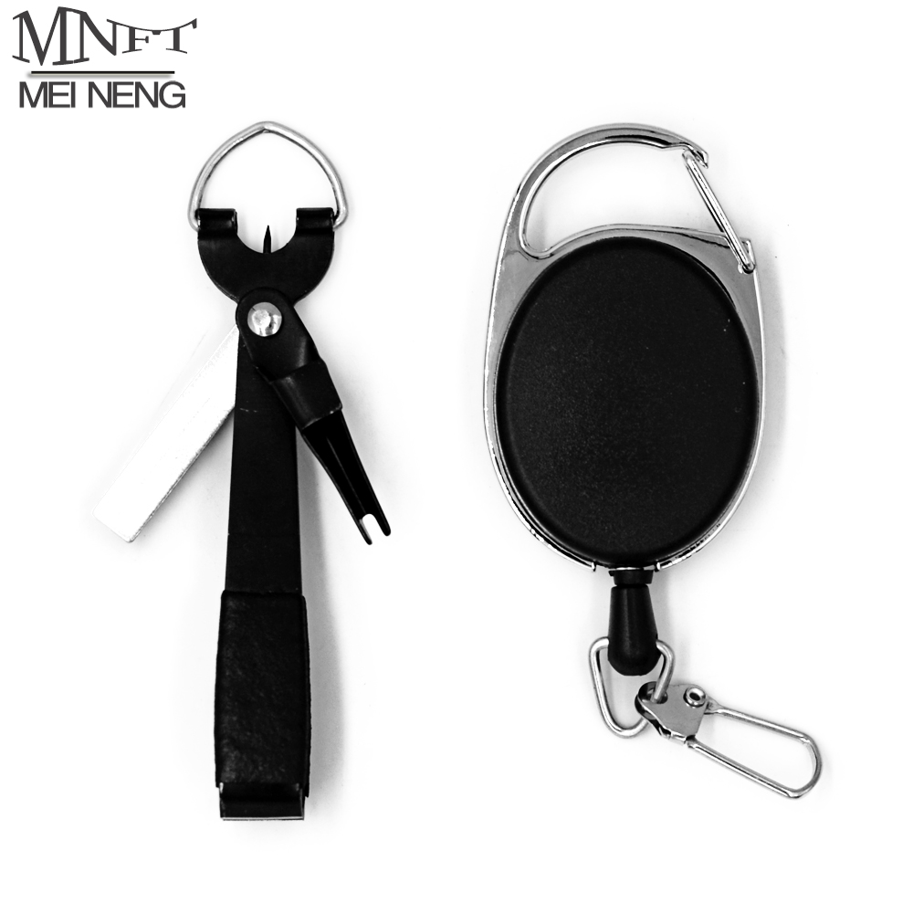 MNFT 1Pcs Quick Knot Tying Tool Fly Fishing Nipper Scissors Hook Sharpener With Zinger Retractor Hook Sharpener Fly Tying Tool