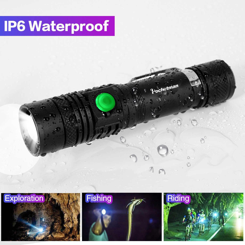 12000LM супер яркий светодиодный фонарик USB linterna Led torch T6/L2/V6 power Tips масштабируемый велосипедный фонарь 18650 перезаряжаемый