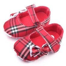Красивая Бабочка-узел Дизайн И Hook & Loop Новорожденного Ребенка Девушка Обувь 0-12 М