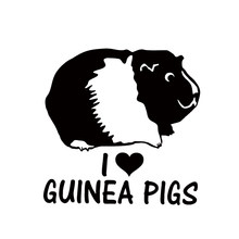 Hot Sale I Love Guinea Pigs Vinyl Decal Car Window Bumper Sticker Cavy Rodents Pet Jdm(China)