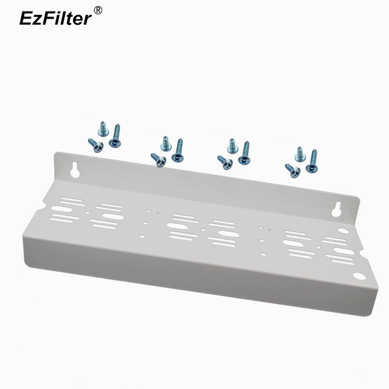 Triple Metal Mounting Bracket For 3 Stage Water Purifier Systems Filter Housing Hanging Board Plate With Screws 1unit column a4 double sided gallery hanging systems wire hanging picture hanging systems for agent hotel retail store
