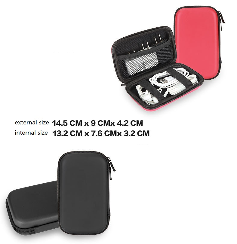 1449e4cceeeb ... GUANHE Universal Electronics Accessories Travel Organiser Hard Drive  Case Cable organizercharger-in Hard Drive Bags ...