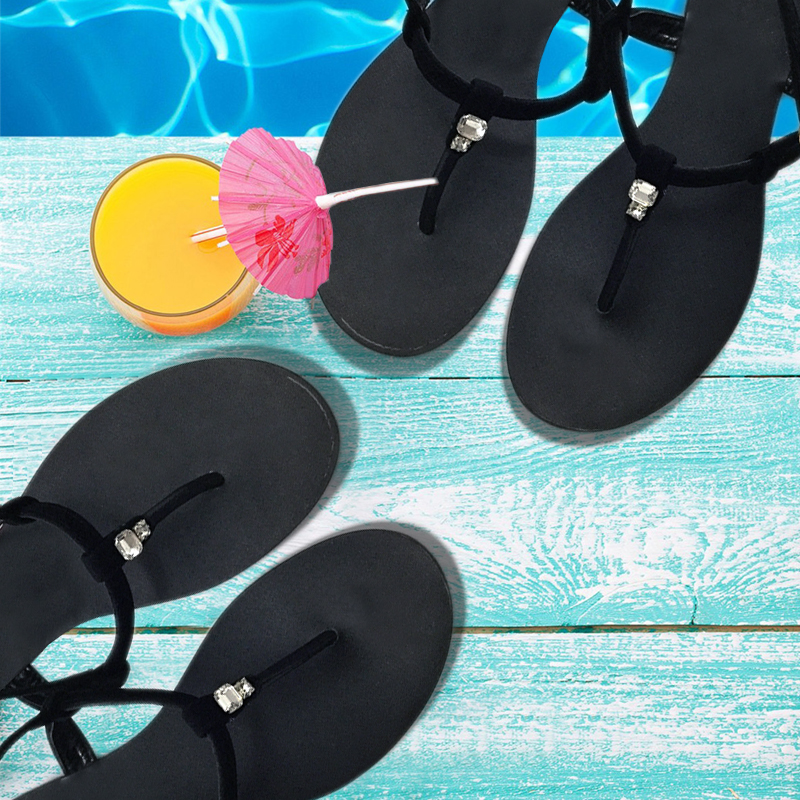 cc38b8256 Roman Women Gladiator Sandals Shoes Flip Flops Black Wine Red Strappys  Cutout Summer Casual Beach Sandals Shoes Zapatos Mujers-in High Heels from  Shoes on ...
