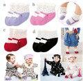 12 par/lote venta caliente lindos del bebé antideslizante calcetines de algodón del niño infantil de los bebés niñas calcetines venta al por mayor