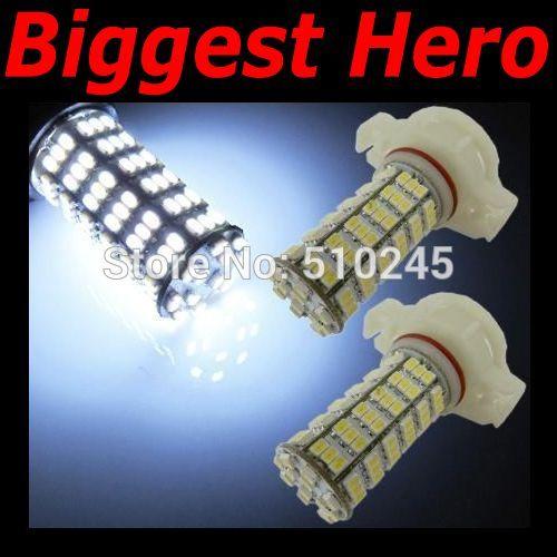 100x car led fog lamp 5202 H16 120 led smd 3528 120smd led light bulb lamp WHITE Free shipping
