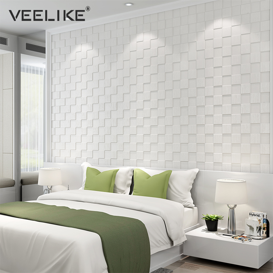 3d Wall Decor Us 30 49 39 Off 4pcs Pe Foam 3d Wall Stickers Safety Home Decor Wallpaper Diy Wall Decor Mosaic Panels Living Room Bedroom Decorative Wall Paper In