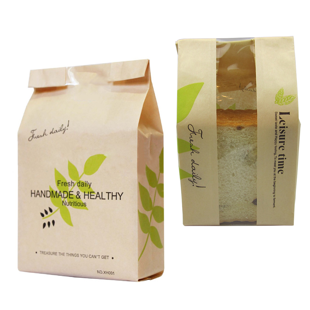10pcslot Eco Friendly Kraft Greaseproof Paper Bags For Graham Bread