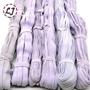 Image 3 - 3mm/5mm/6mm/8mm/10mm/12 millimetri Narrow cinghie elastiche nero bianco per i pantaloni di stoffa sacchetto di casa FAI DA TE nastro elastico fasce accessori di cucito