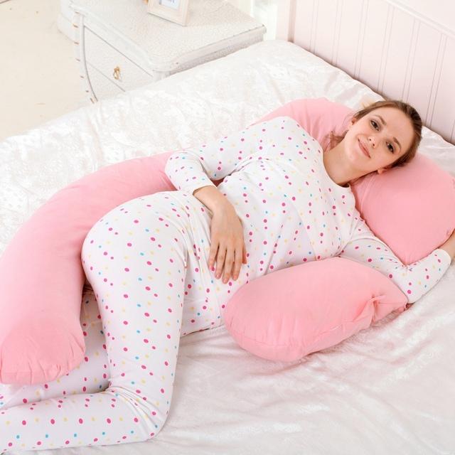 Novo Corpo Travesseiro Apoio Travesseiro De Enfermagem Bebê Amamentação Mulheres Grávidas Barriga Sono Travesseiros para Dorminhoco Lateral 6 Cores Opcional