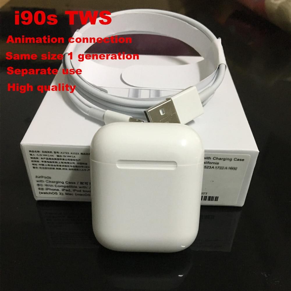 I90s TWS Air 1:1 utilisation séparée écouteurs Pop up Bluetooth 5.0 écouteurs son Hifi PK W1 puce i20 i77 i80 i200 TWS pour livraison directe