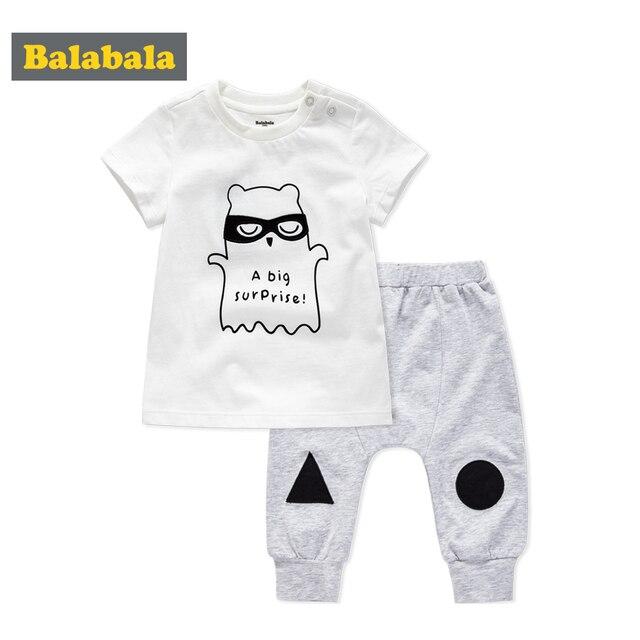 Balabala Baby Boy Clothes Set For Summer 2018 Newborn Infant Clothes