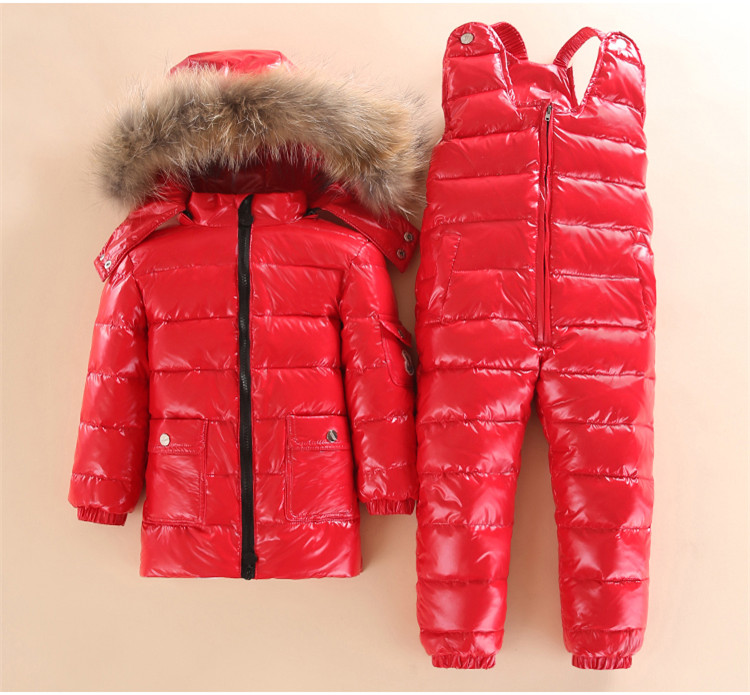 dd4511d81 3~5 Year Russian Child Winter Ski Snowsuit Baby white down Boys Waterproof  Clothing Set jacket Kids Coat for Girls Enfant Parka-in Down & Parkas from  Mother ...