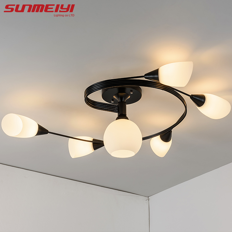 New LED Ceiling Lights luminaire plafonnier Surface Mount Indoor Lighting For Bedroom Living Room Kitchen lampara techo led in Ceiling Lights from Lights Lighting