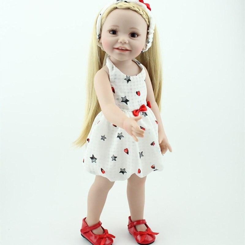 NPKDOLL 45 cm commerce extérieur Simulation bébé renaissance poupée en caoutchouc souple cadeau d'anniversaire pour l'éducation précoce formation en soins infirmiers à domicile