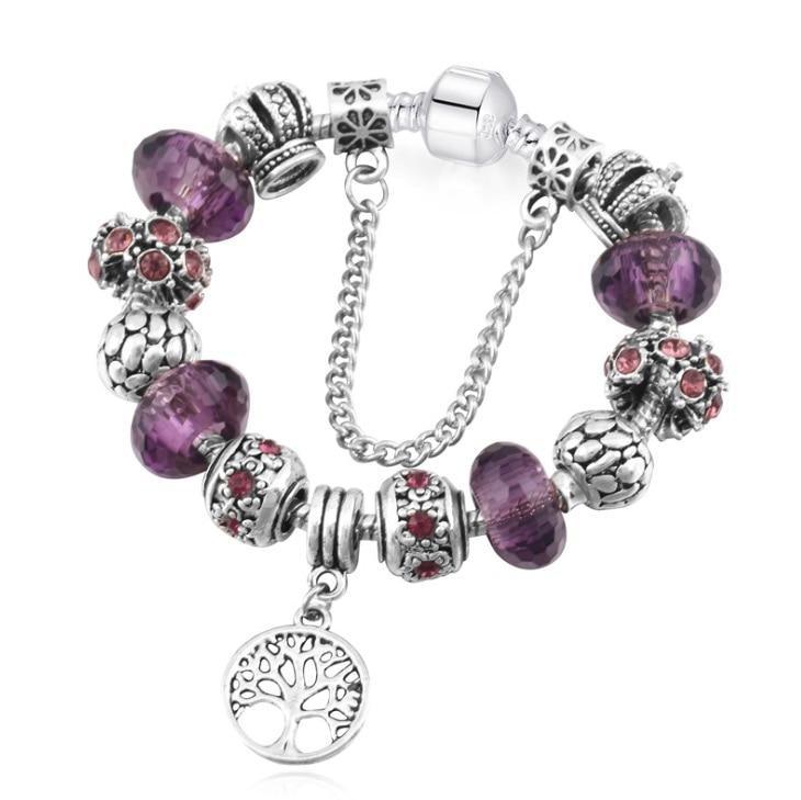 SPC Ishay Silber Überzogene Herz Charme Armbänder & Armreifen Kristall & Glas Perlen Armbänder für Frauen Pulsera DIY Schmuck