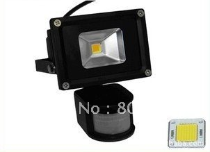promotion free shipping 20pcs 10w led pir floodlight CE&ROHS 3year warranty