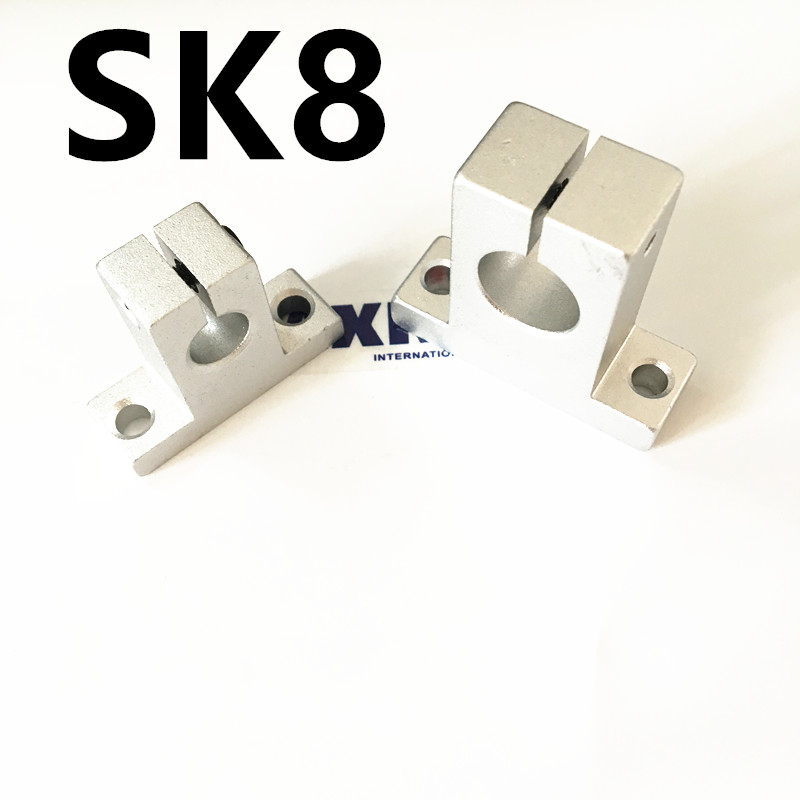 4pcs/lot Free Shipping SK8 8mm linear bearing rail shaft support XYZ Table CNC Router SH8A 1 pcs shf35 35mm linear rod rail shaft support for xyz table cnc router mill