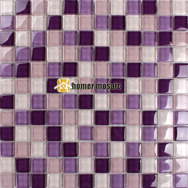 Gentle Purple Violet Color Crystal Gl Mosaic Kitchen Backsplash