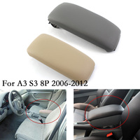 New Car Armrest Cover Lid For Audi Audi A3 S3 8P chassis 2006 2012 8P0864245P ABS Leather Center Arm Rest Handrails Console Lid