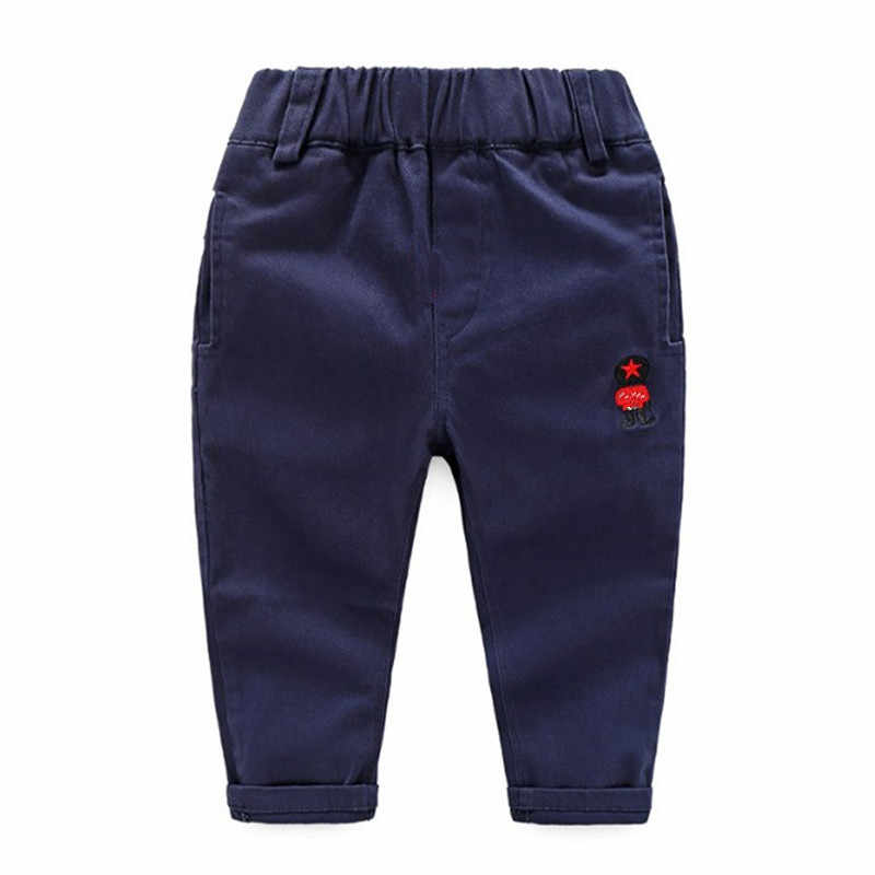 RICHM 2018  Baby Boy Girl Pants Spring Autumn Cotton Infant Legging Boy Pants Baby Girl Clothing Cartoon Embroidery Baby