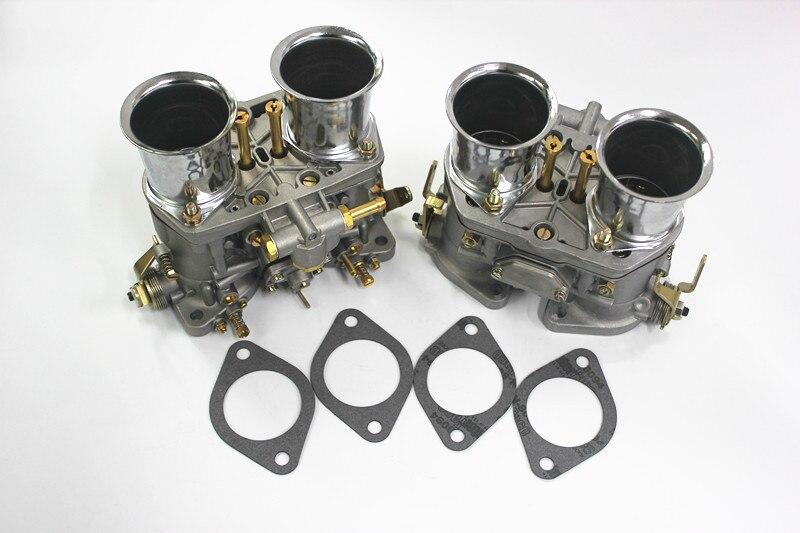 2 pcs/lot de haute qualité nouveau 48 Idf Oem carburateur + remplacement de cornes d'air pour Solex Dellorto Weber ajustement Opala Bug/bettle/vw Dellort