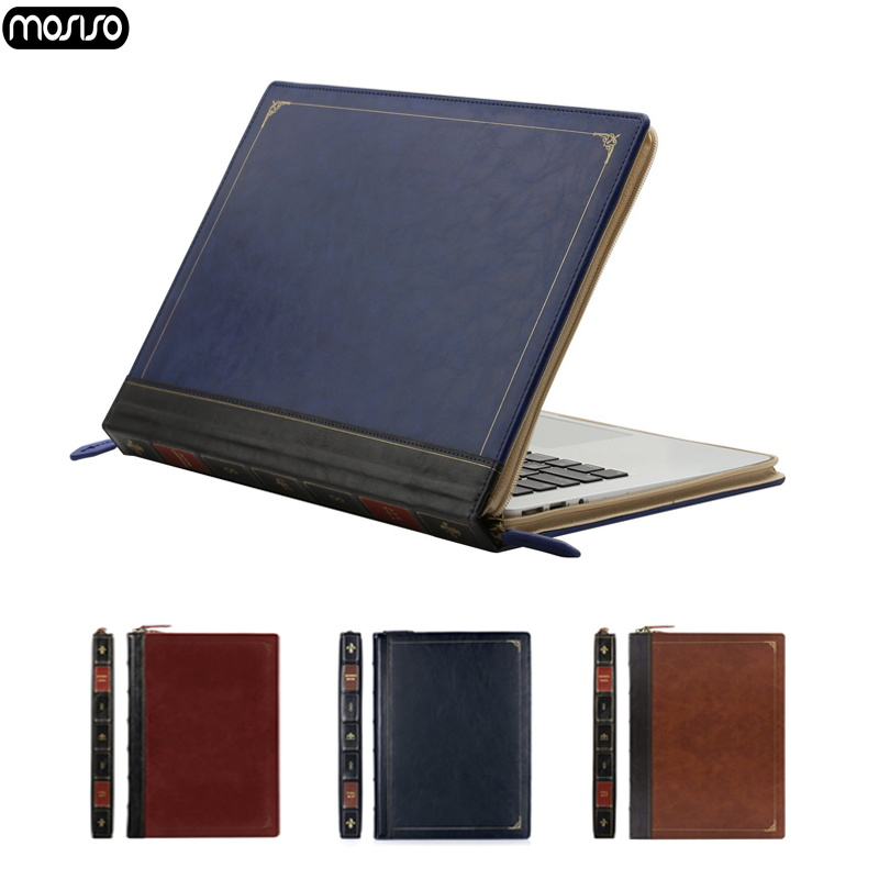 MOSISO PU Leather Laptop Case for New Macbook Air 13 A1932 Pro 13 15 Notebook Cover for Mac Pro 13 15 Inch Case 2016 2017 2018