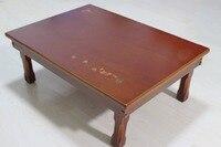 Korean Compact Folding Table Rectangle 70 50CM Living Room Traditional Antique Korean Oriental Design Furniture Tea