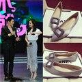 Koovan mujeres pisos 2017 zapatos de diamantes de imitación para las mujeres femeninas diamante puntas hebilla pisos de lujo zapatos de las mujeres del otoño primavera de cuero