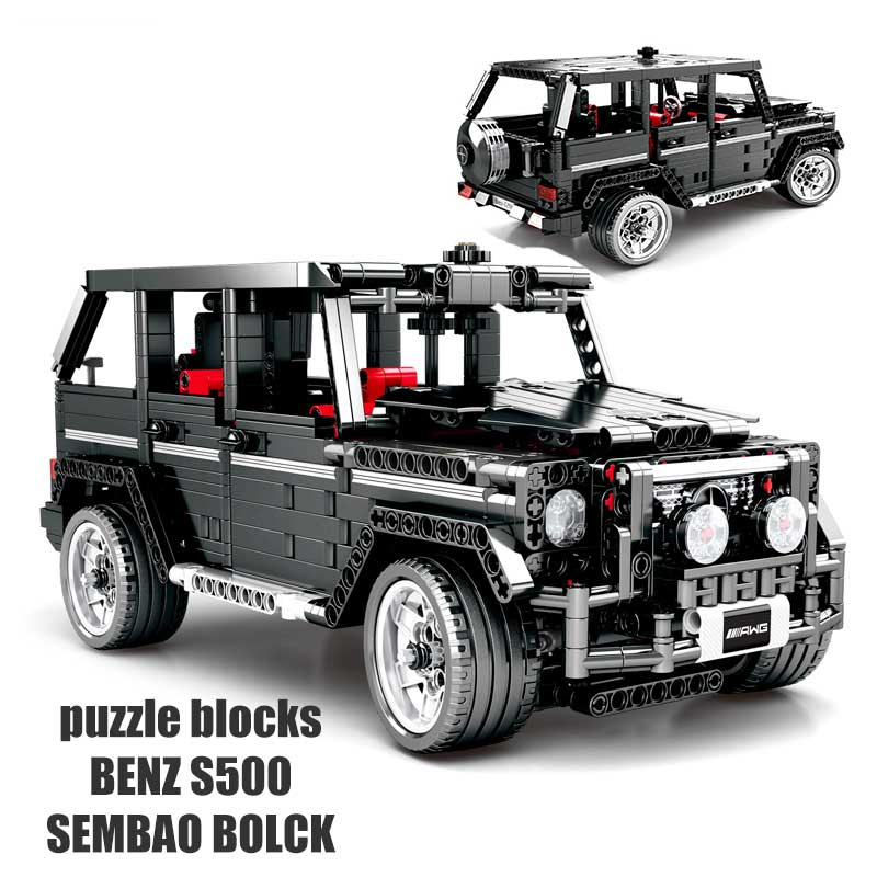 <font><b>701960</b></font> benz popular puzzle transportation block bset hot sale high quality educational for kids boy toys Birthday gift image