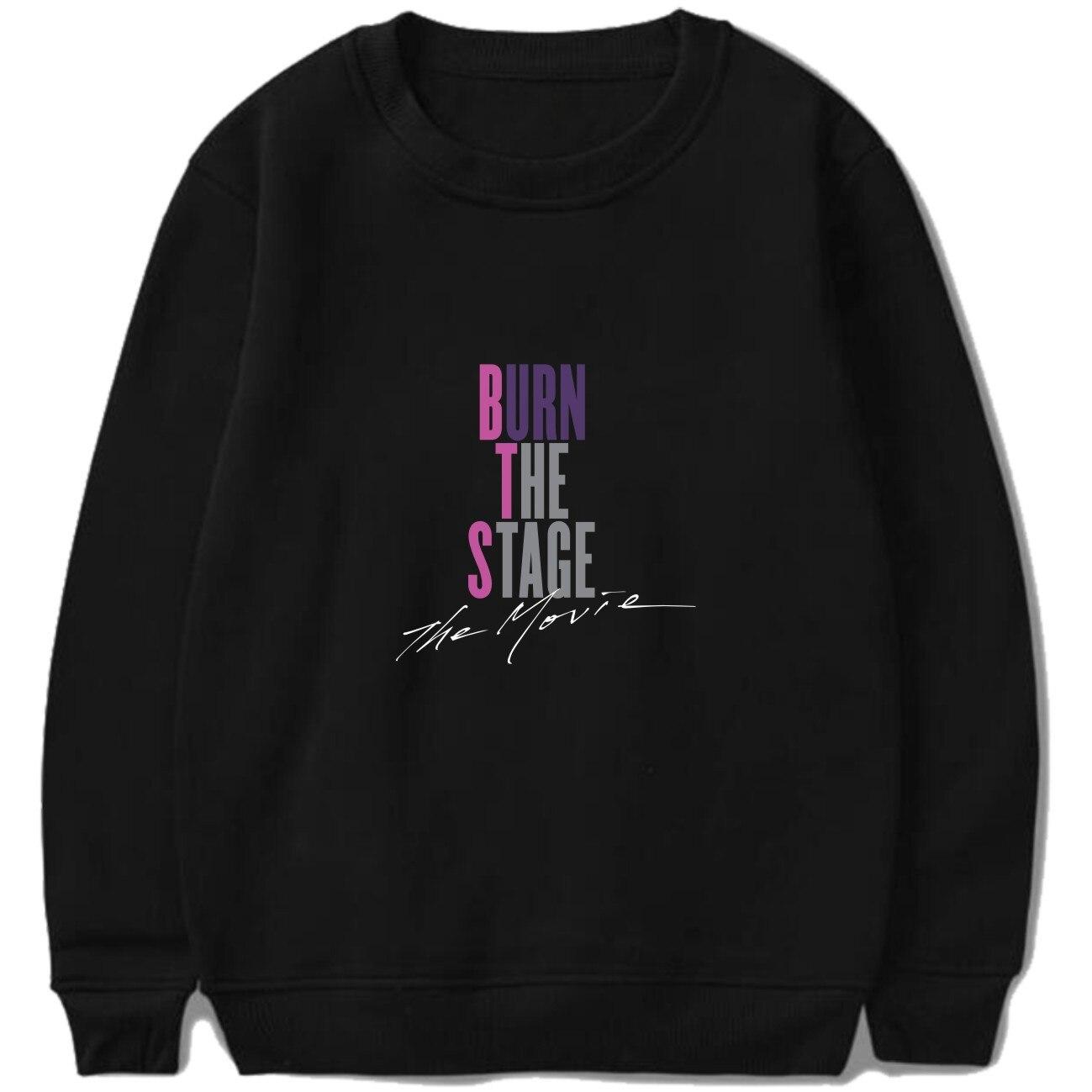 Drop Schiff 2018 Herbst Winter BTS Kpop Hoodies Sweatshirts Buchstaben Gedruckt Kleidung BRENNEN DIE BÜHNE DIE FILM Pullover Tops Moletom