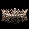 2.1 polegadas de alta Folha de Cristal Nupcial Do Casamento Da Dama de Honra Prom Pageant Tiara Acessório Do Cabelo HG00237-1