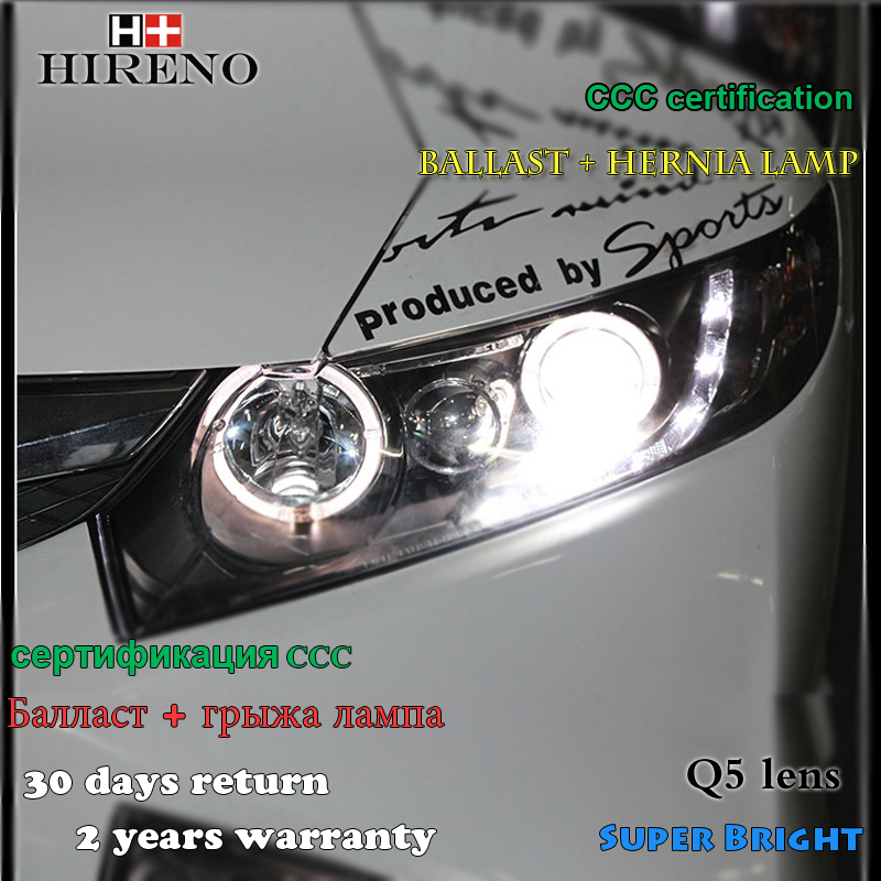 Hireno Headlamp for 2006-2011 Honda Civic Headlight Assembly LED DRL Angel Lens Double Beam HID Xenon 2pcs victorinox victorinox 7 6078
