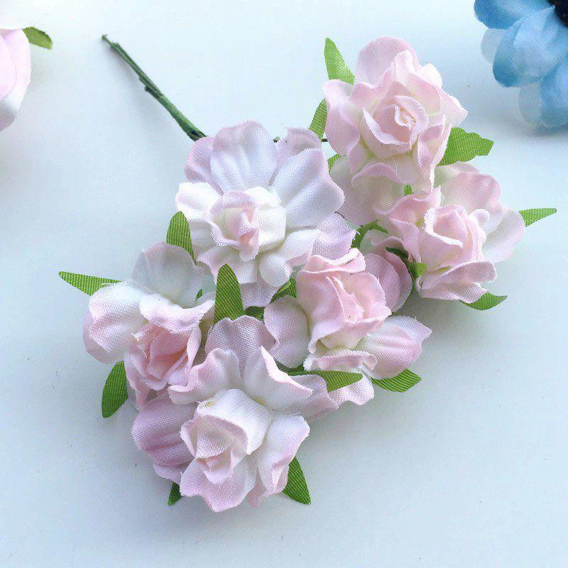 72 unids 3 cm nueva tela color de rosa artificial ramos de flores diy artesana scrapbooking